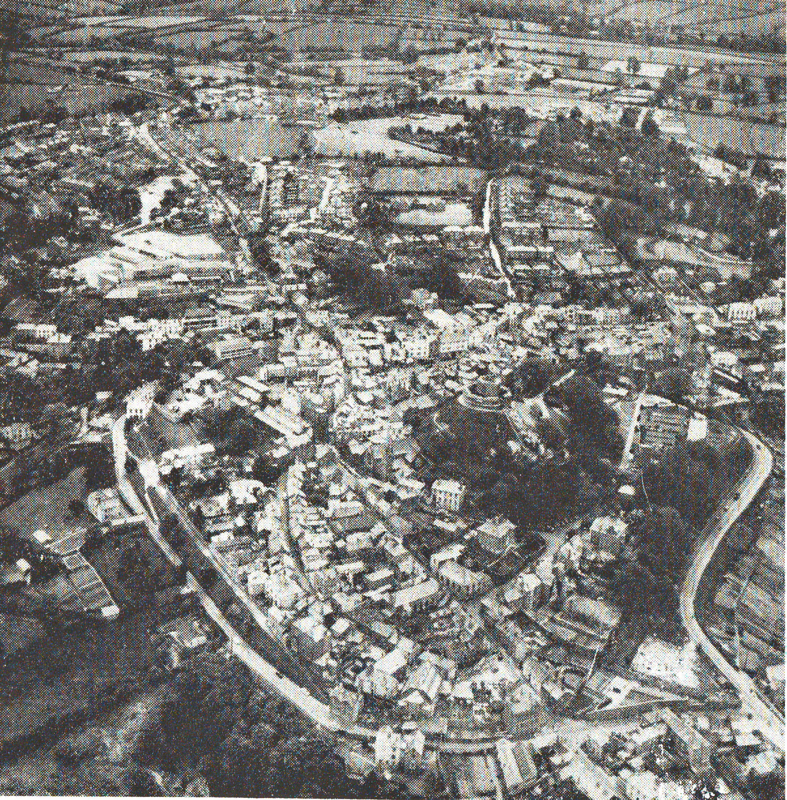 Aerial of Launceston from 1962.