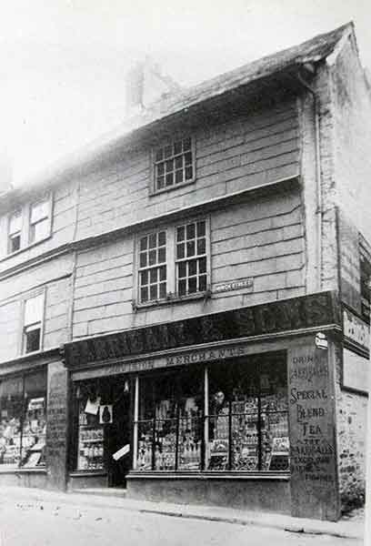 Barriball and Sons, Church Street. This is the old shop before a new one was built in its place.