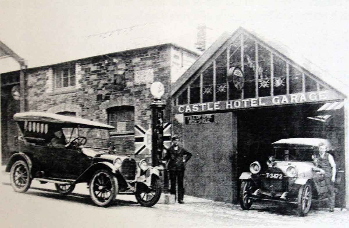 The Castle Temperance Hotel Garage in Western Road.