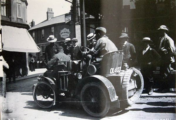 early-motor-trials-coming-down-madford-lane-launceston