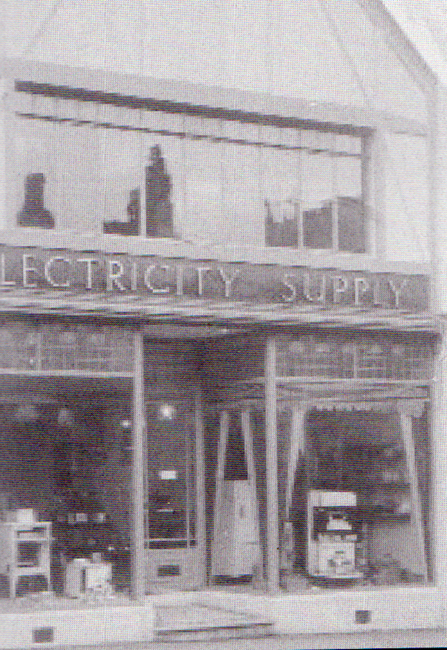 Electricty shop in Western Road.