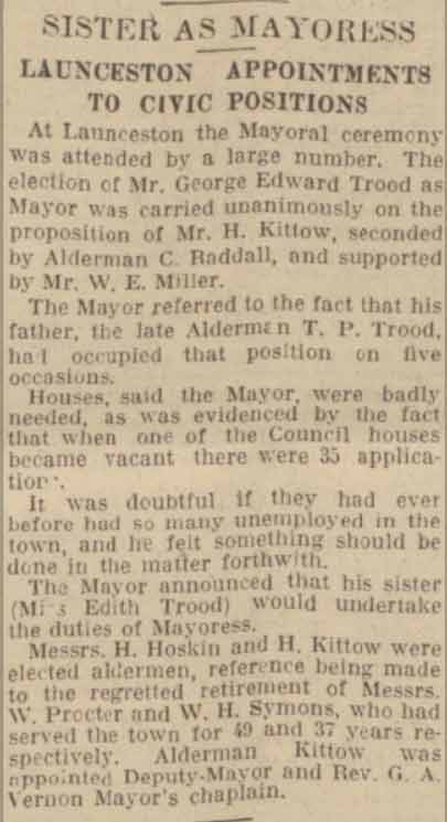 george-trood-mayor-announcement-november-1932