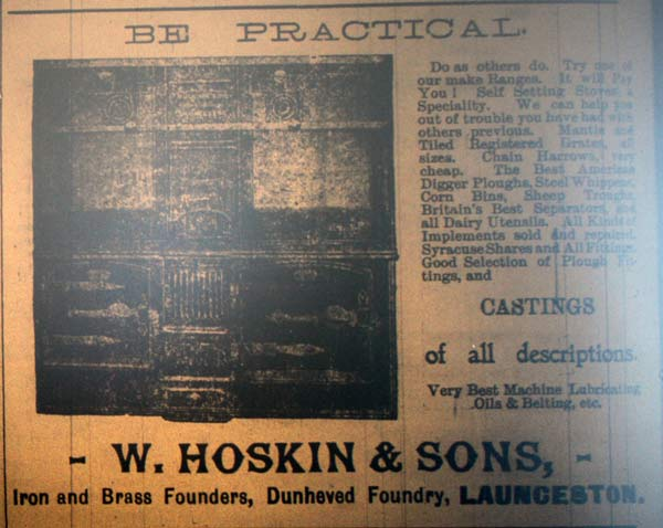 W. Hoskin and Son 1909.