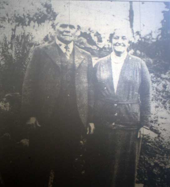 James and Rose Treleaven on their Golden Wedding Anniversary in 1937.