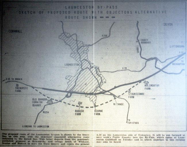 Launceston by-pass scheme of 1959.