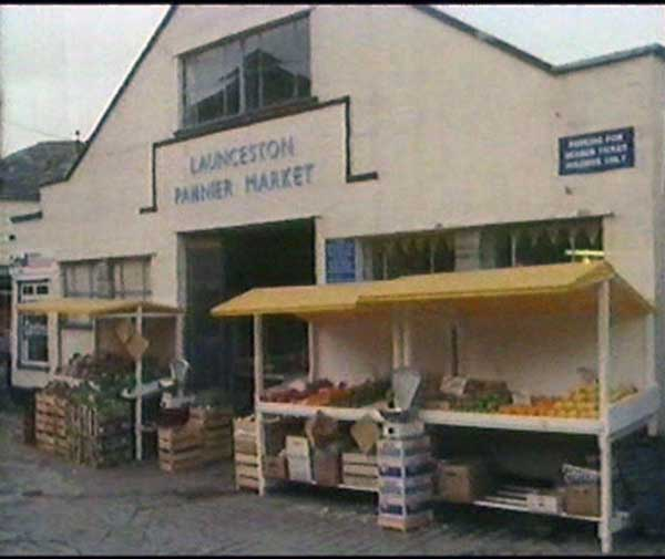Launceston Pannier Market in the early 1980's.