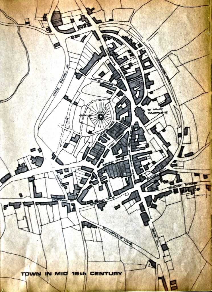 Launceston town map from the mid 19th century