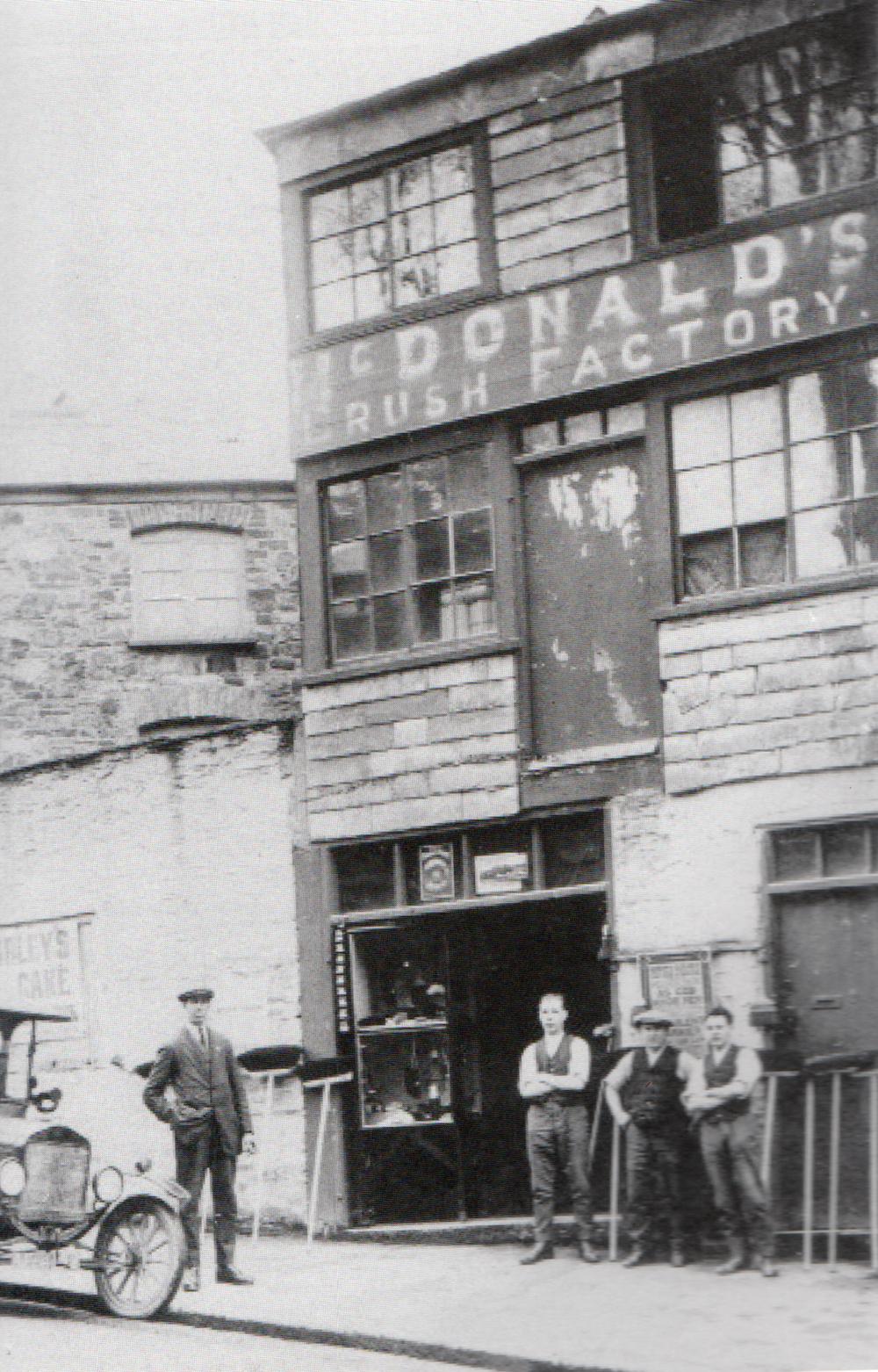 McDonald and Pyatt's brush factory at 1, Western Road.