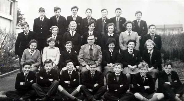 Pennygillam Secondary School. 'Bronco' Sheens class. row