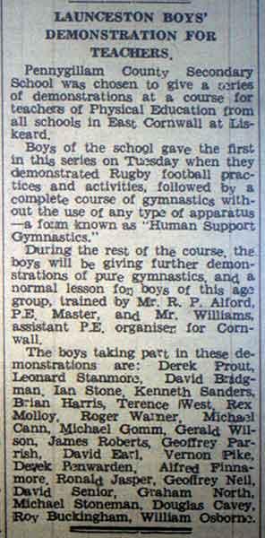 pennygillam-school-report-sept-1956