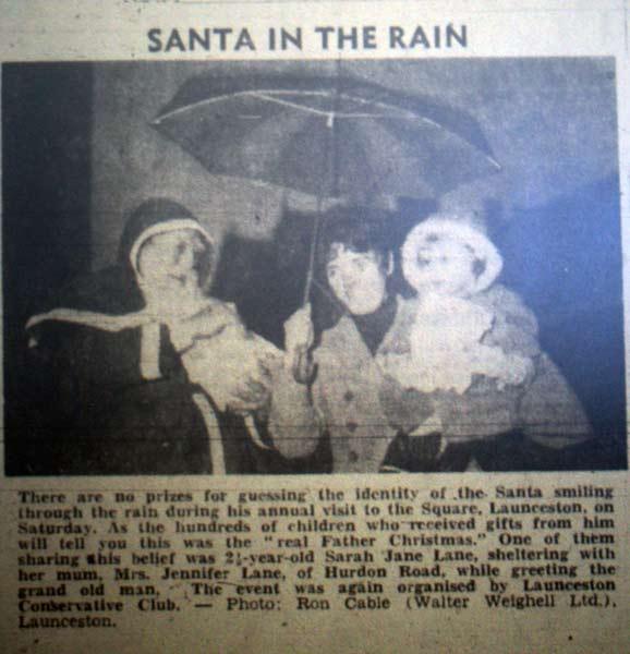 Bert Pike as Santa in 1976.