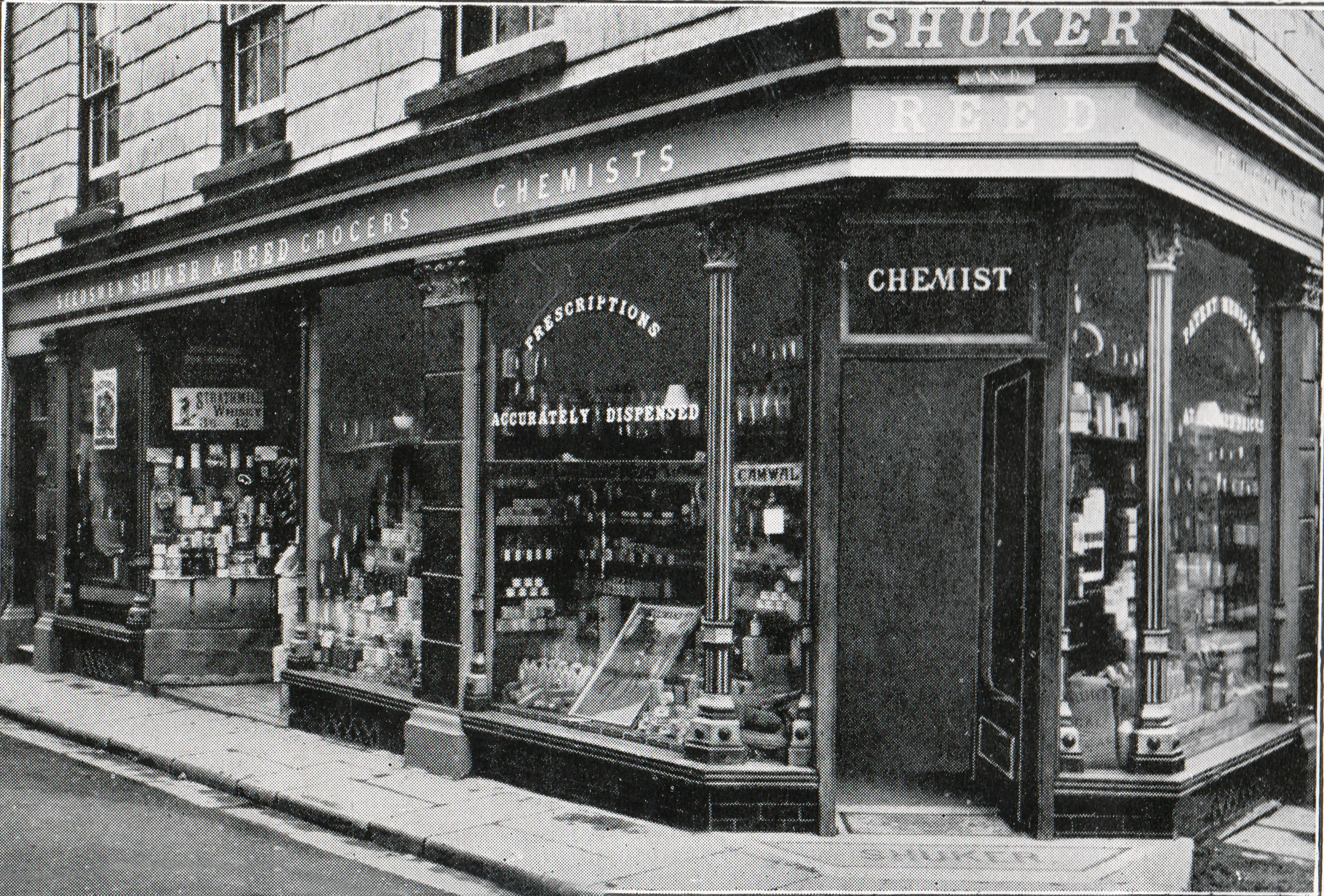 Shuker and Reed, Church Street in 1909.
