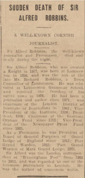 sir-alfred-farthing-robbins-obituary-1931