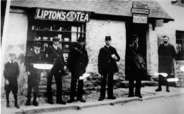 Stoke Climsland Post Office and its Post Master Mr. Stumbles c.1900.