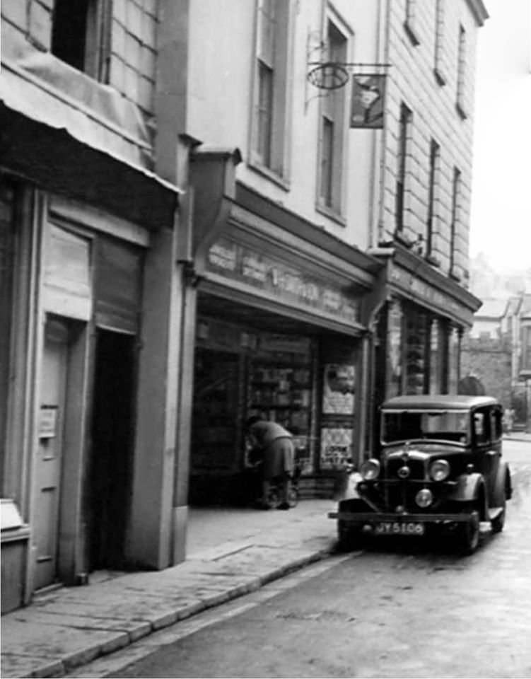 W H Smith, Church Street, Launceston around 1950