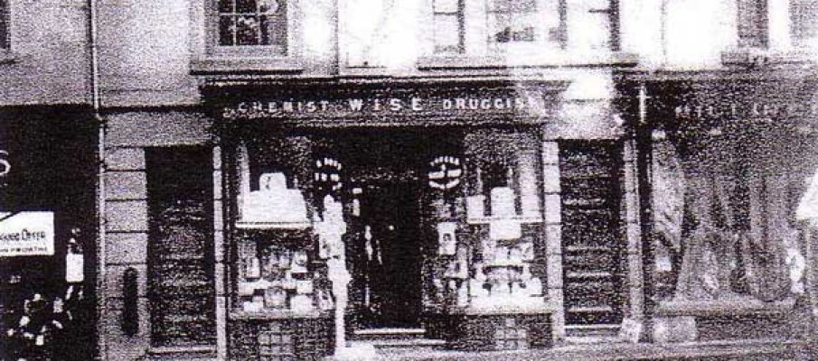 William Wise Chemist, 9, Broad Street, Launceston.