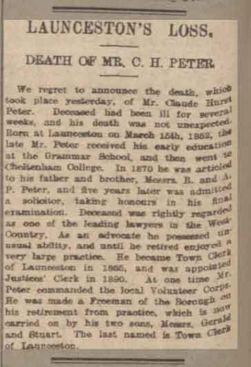 c-h-peter-death