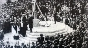 The dedication of Launceston's War Memorial on October 30th 1921.