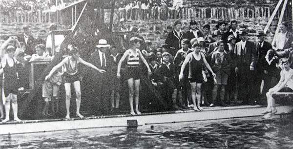 The Jubilee Swimming Baths at Underlane, Launceston, Cornwall