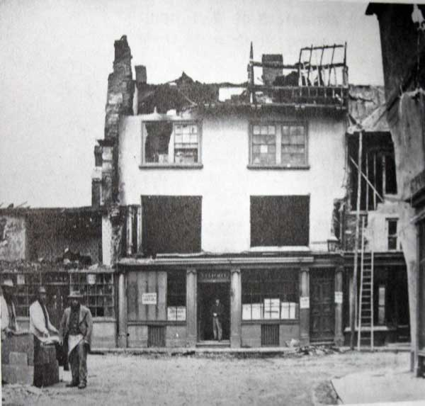 The aftermath of the 1875 Launceston Town Centre fire