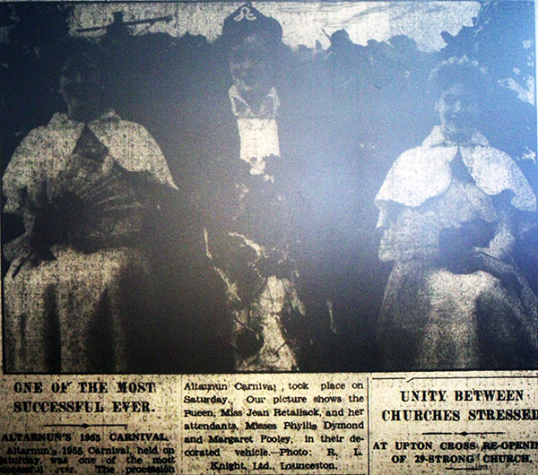 1955 Altarnun Carnival Queen.