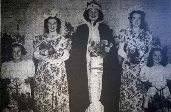 1948 Altarnun Carnival Queen Jean Terry.