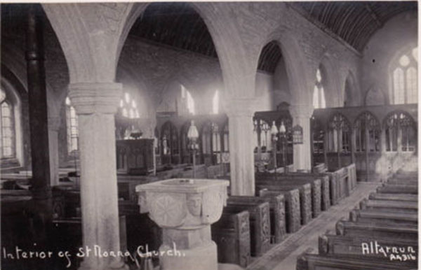 Altarnun Church interior in 1934