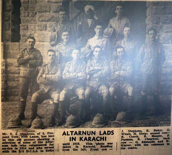 Altarnun Lads in Larachi 1914.