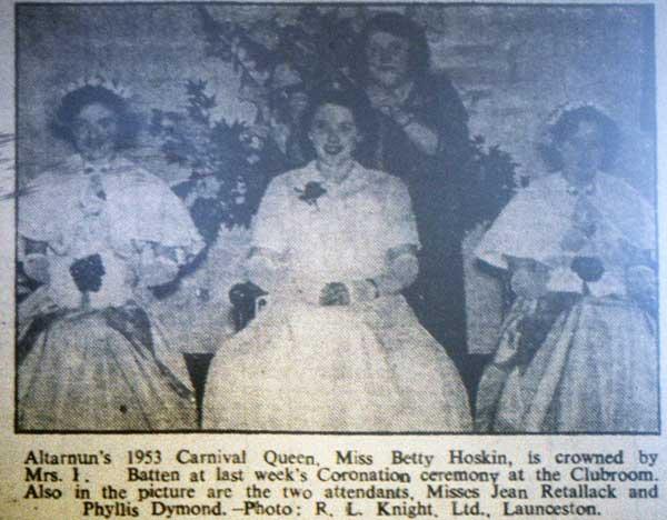 1953 Altarnun Carnival Queen.
