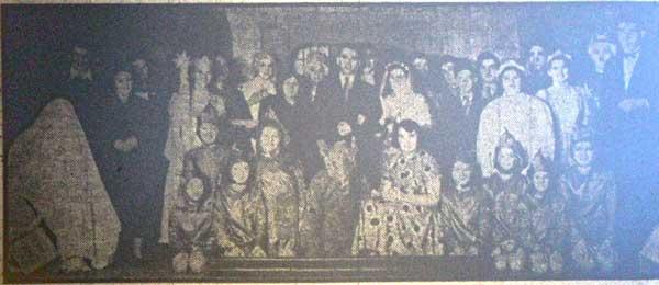 1954 Lewannick pantomime 'Little Miss Muffet.'