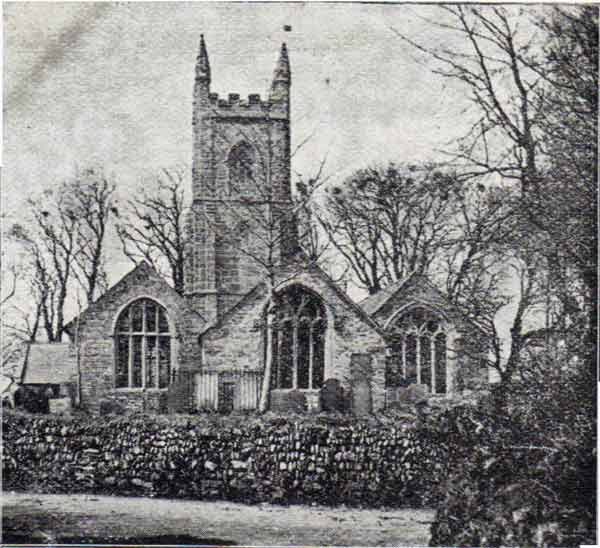 St. Martins Church, Lewannick in 1900.