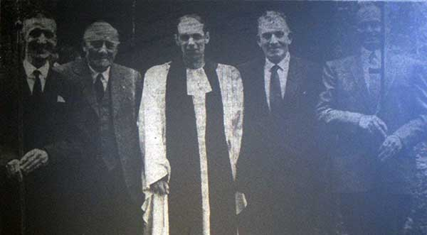 The Rev. M. P. Simcock at his induction as Vicar of Altarnun in June 1967.