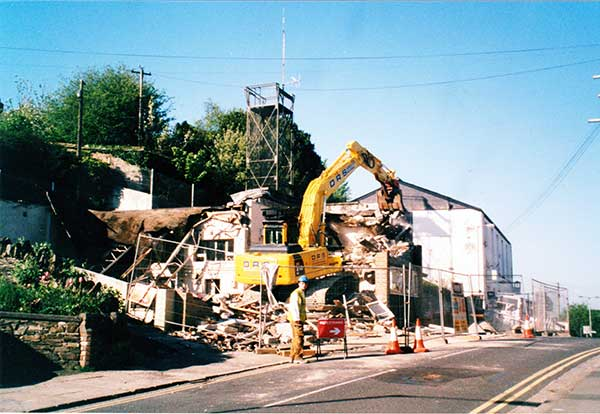 Launceston Fire Station in Westgate Street being demolished in 2003
