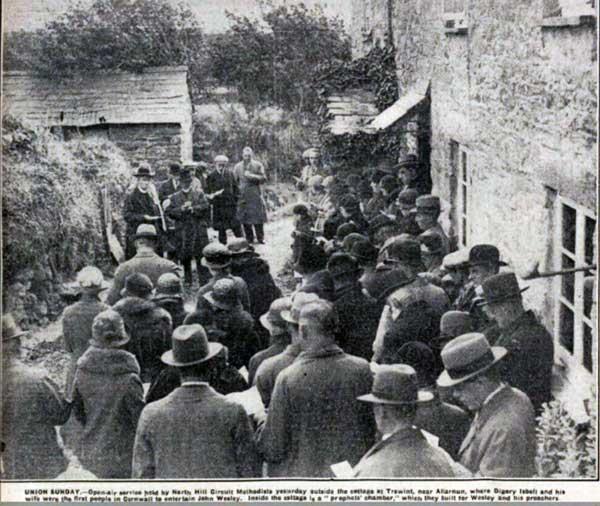 Wesleyan Service at Wesley Cottage, Trewint in 1932.