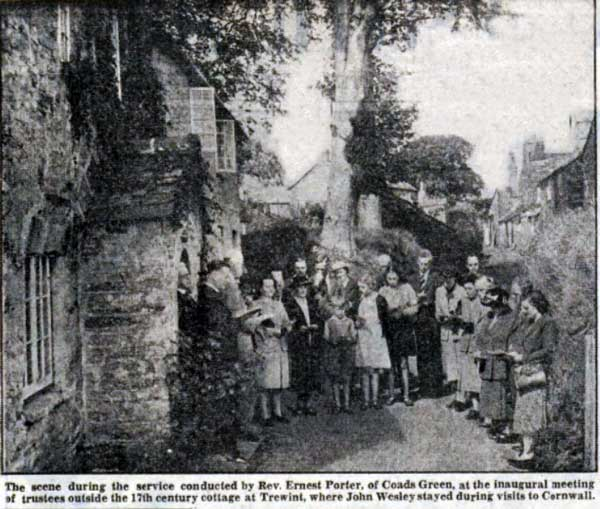 Wesleyan Service at Wesley Cottage, Trewint in 1949.