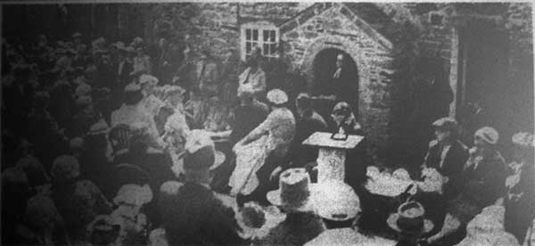 Wesleyan Service at Wesley Cottage, Trewint in 1959.