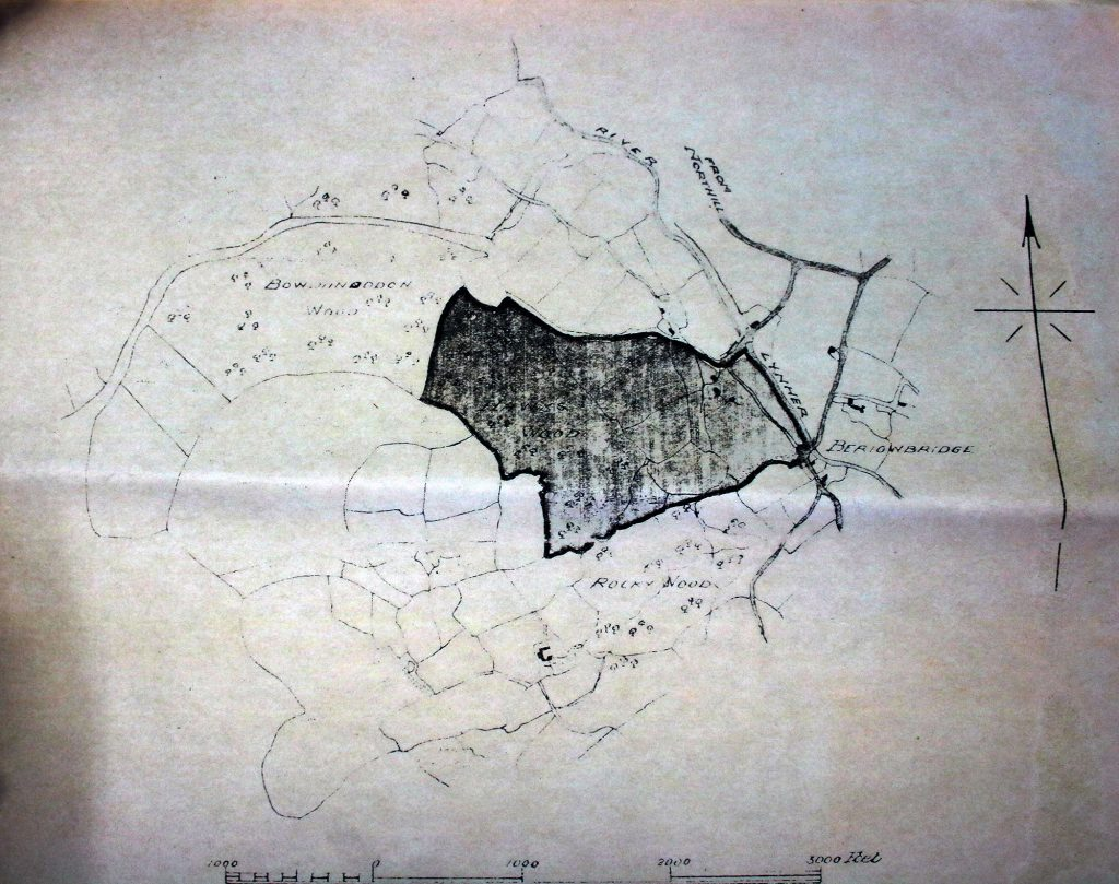 Hawkswood Mine Map from the 1950's.