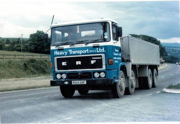 Heavy Transport ERF on the old A30 Lifton. Photo Courtesy of Steve Dymond