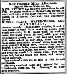 New Phoenix mine sale October 1894