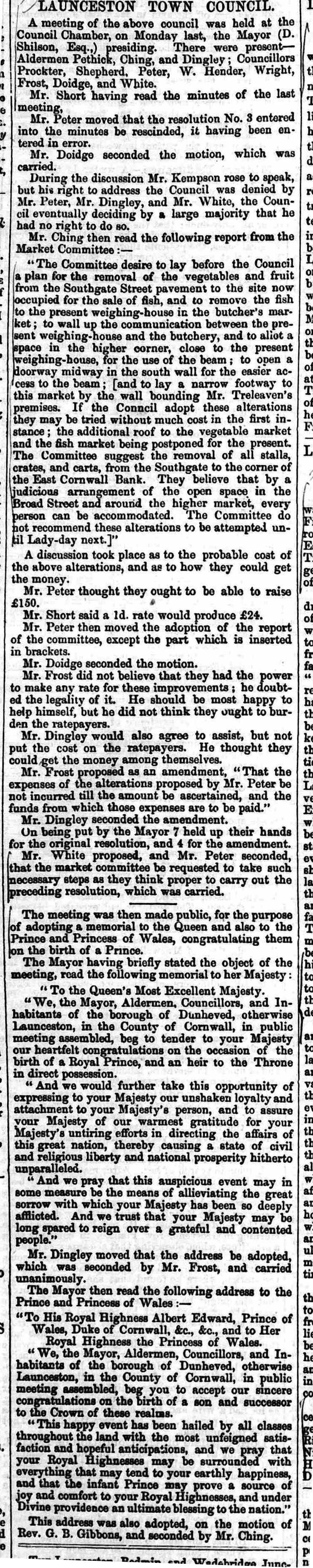 13 February 1864