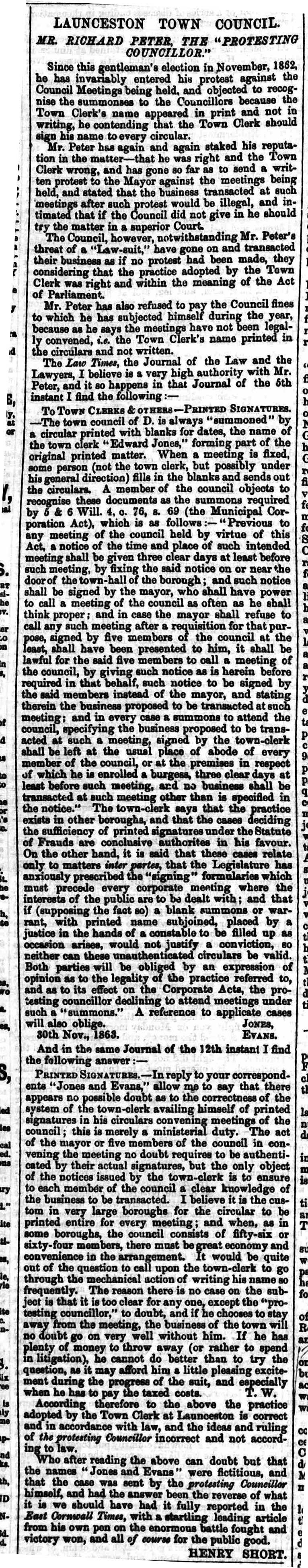 19 December 1863
