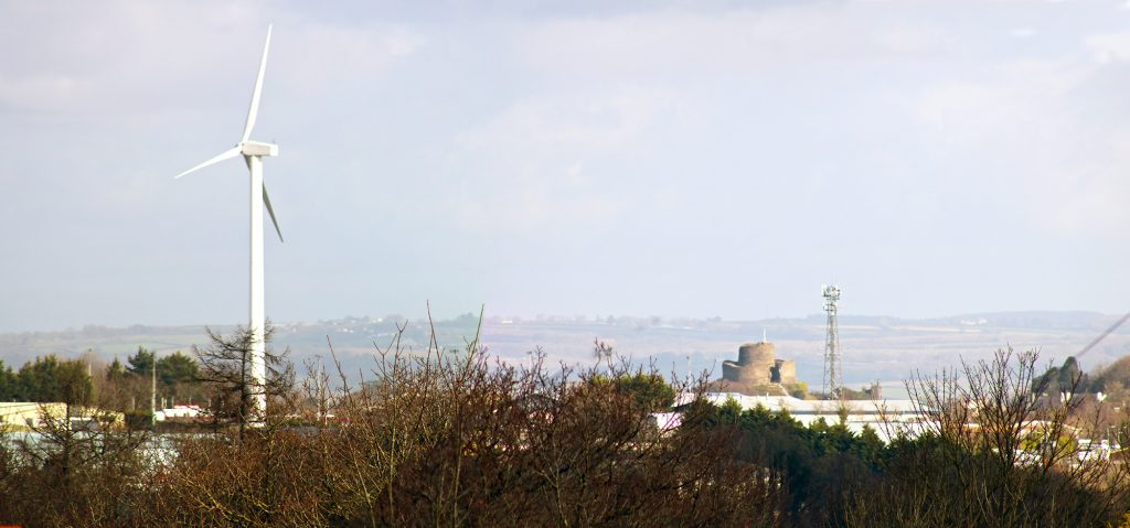 Launceston from South Petherwin February 2017