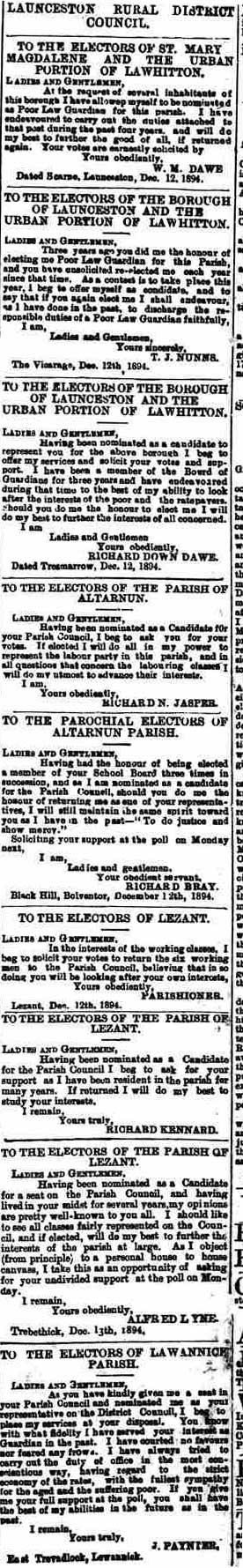 15 December 1894