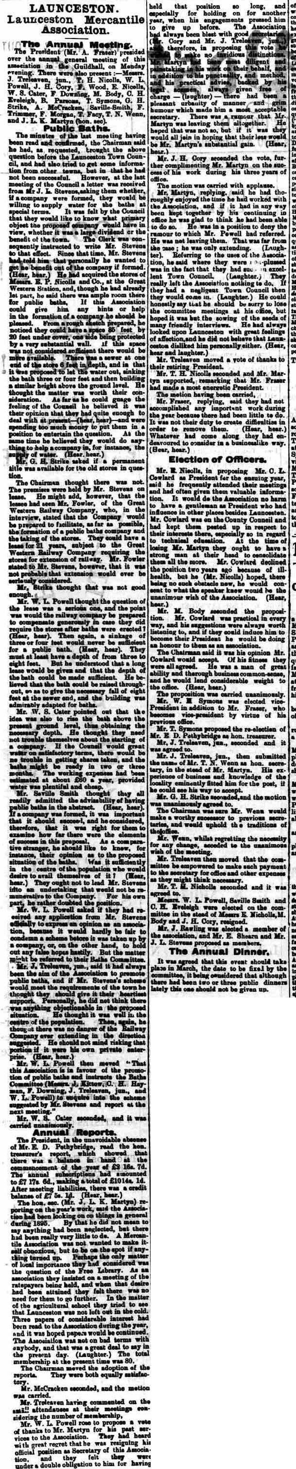 22 February 1896