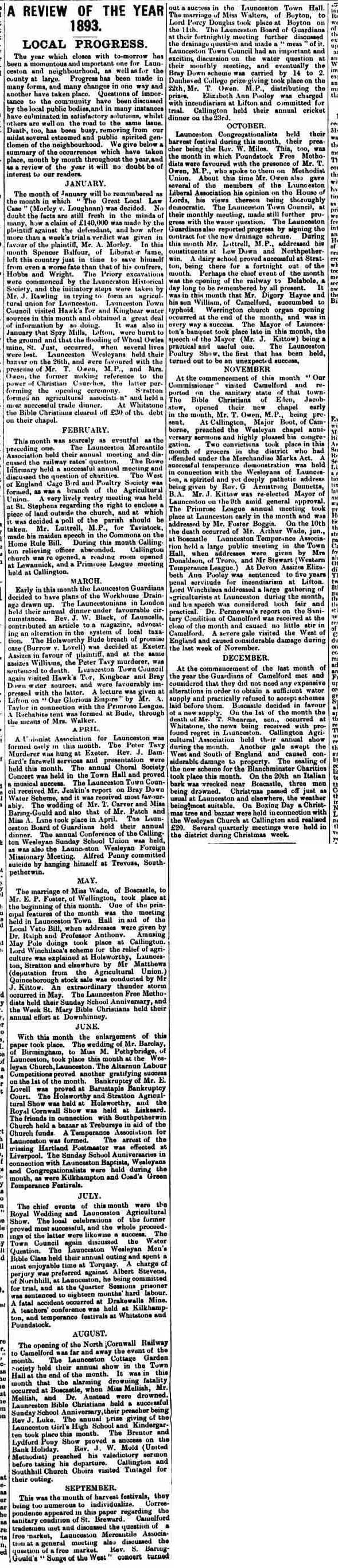 30 December 1893