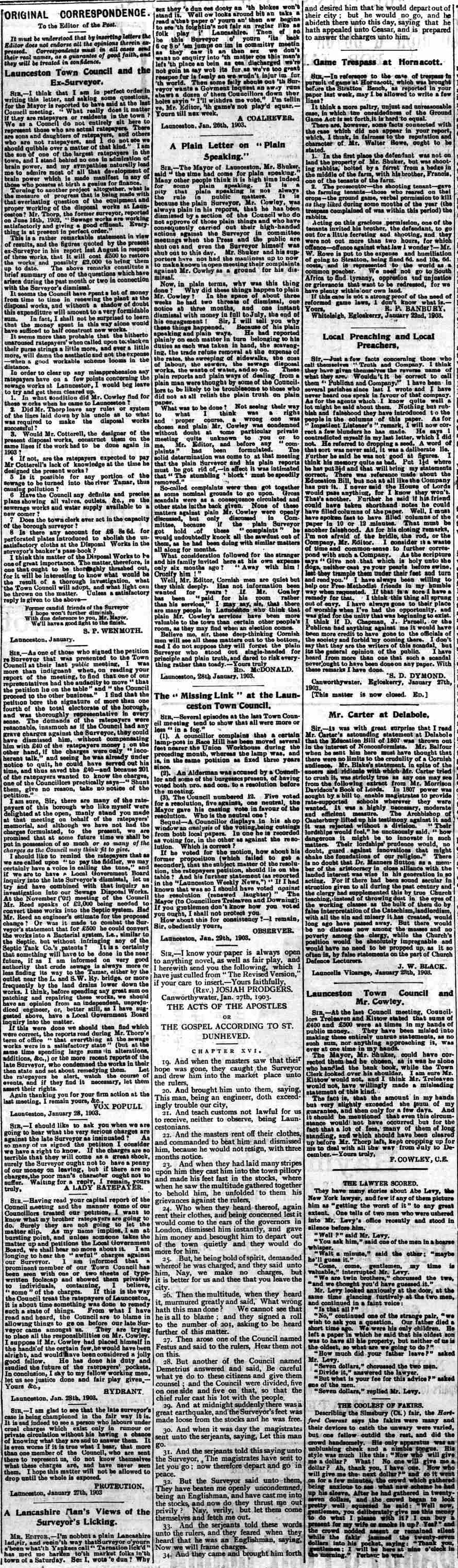31 January 1903