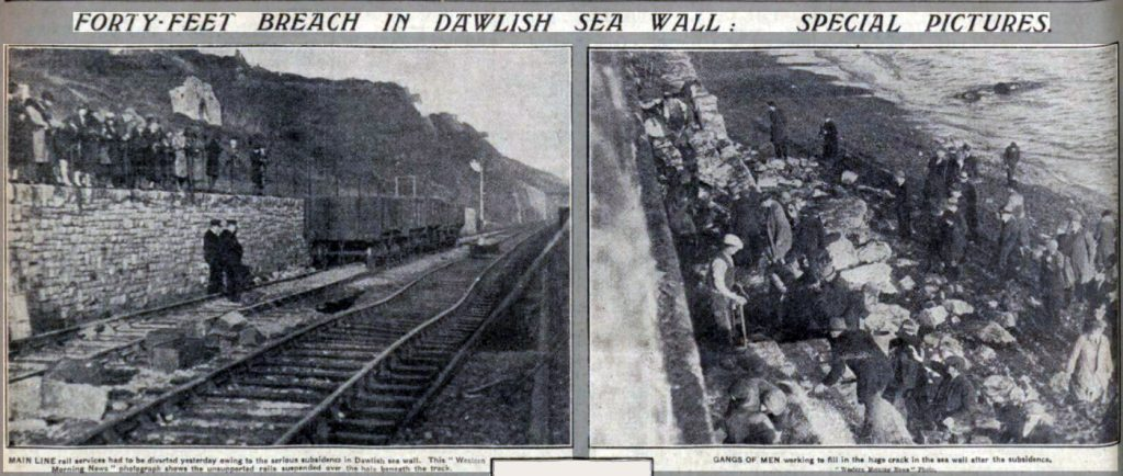 Dawlish sea wall 1930