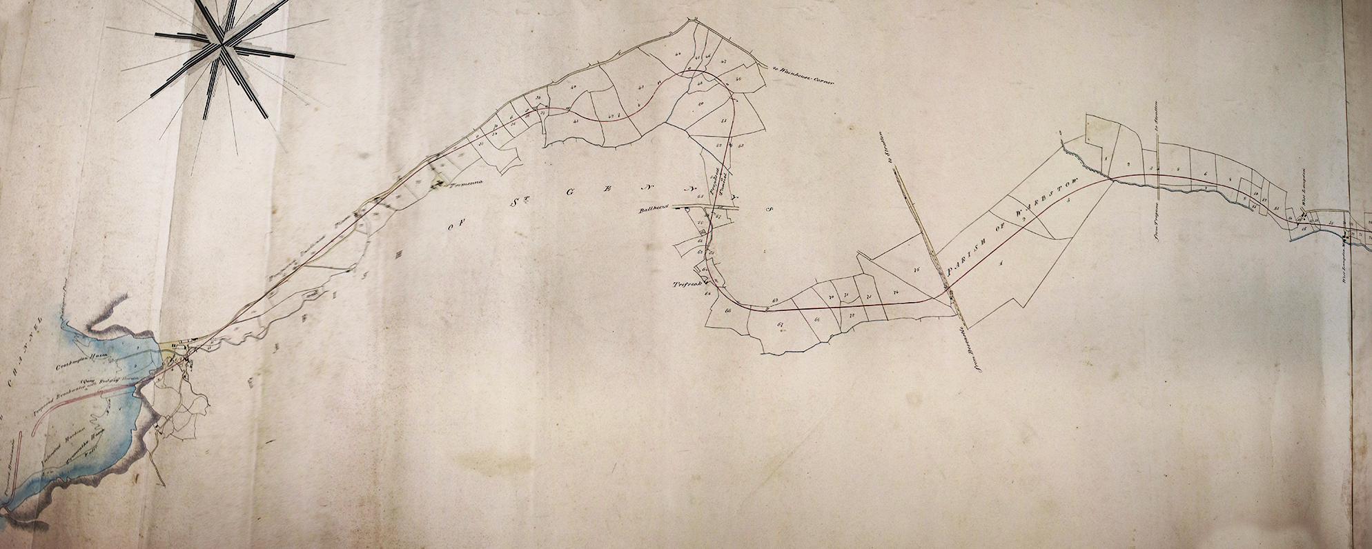 Proposed Tremoutha Railway Line 1836