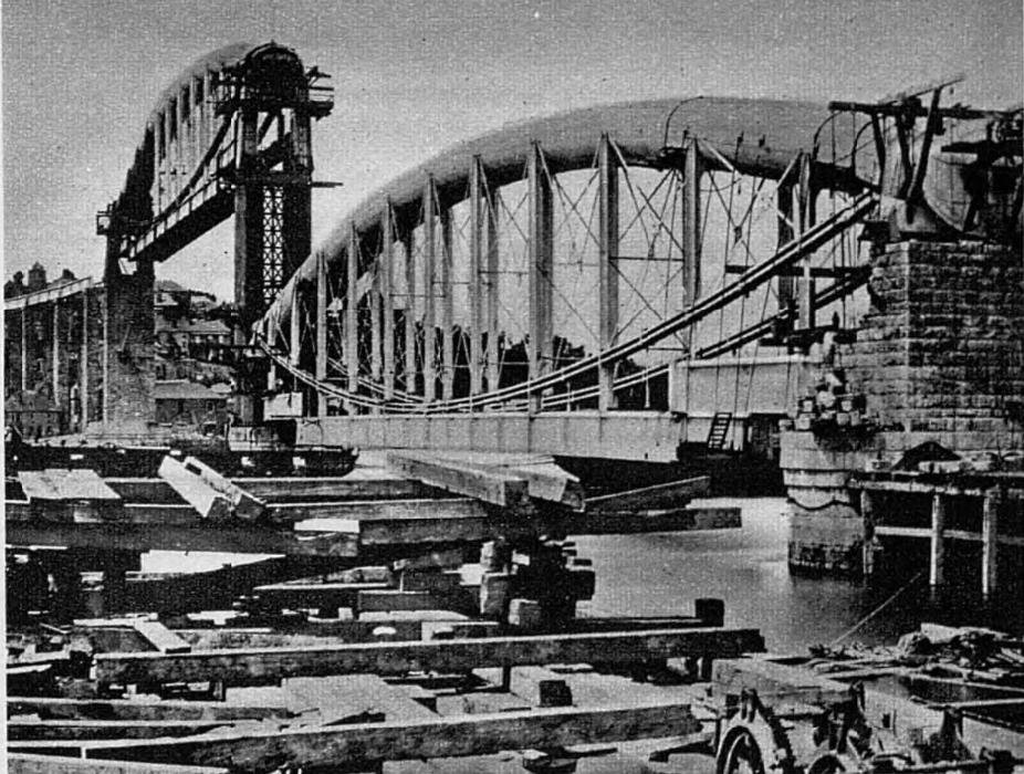 Royal Albert Bridge construction in 1857