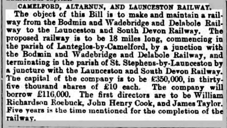 West Briton and Cornwall Advertiser 31 December 1874